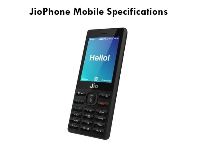 JioPhone Mobile Specifications